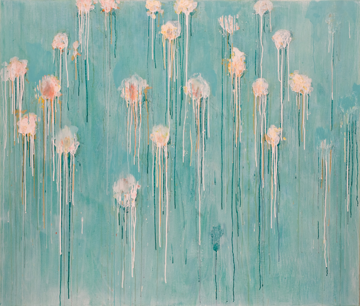 Eric Hirdes 170x200 cm acryl on canvas 2016 naar C.Twombly A Gathering of Time